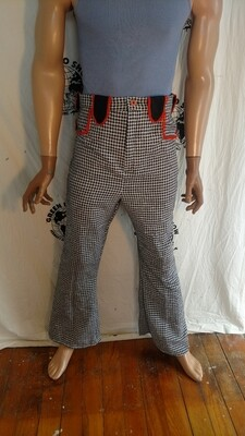 Mens western pants check fancy 32 Hermans