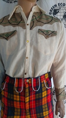 Hermans Hemp Western Shirt L USA