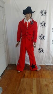 Mens Orange Western Suit Hermans 42 Vaquero