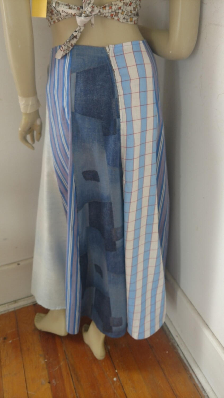Patchwork Panel Long Skirt 26 w Anna Herman