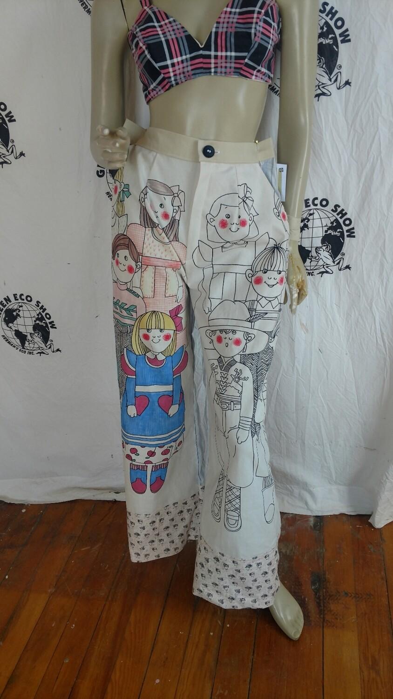 Womens Finland wide leg Pants L Hermans Eco