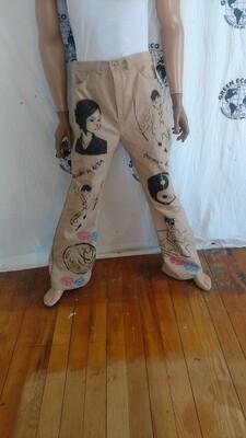 Mens Asian Grafitti jeans 36 x 33 nat dyed