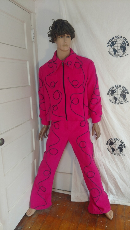 Mens Suit pink lasso sz 42