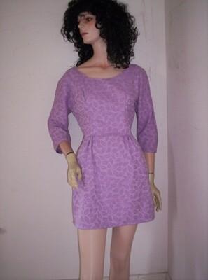 Womens purple Jacquard Dress. S -M