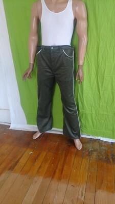 Mens corduroy silver trim pants 38 high waist bells USA