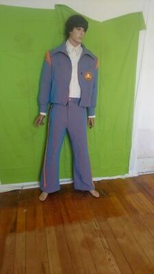 Mens suit bells 42 34 x32 Hermans Eco USA