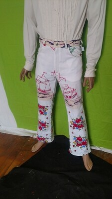 Mens pants patchwork ships 32 Hermans Eco