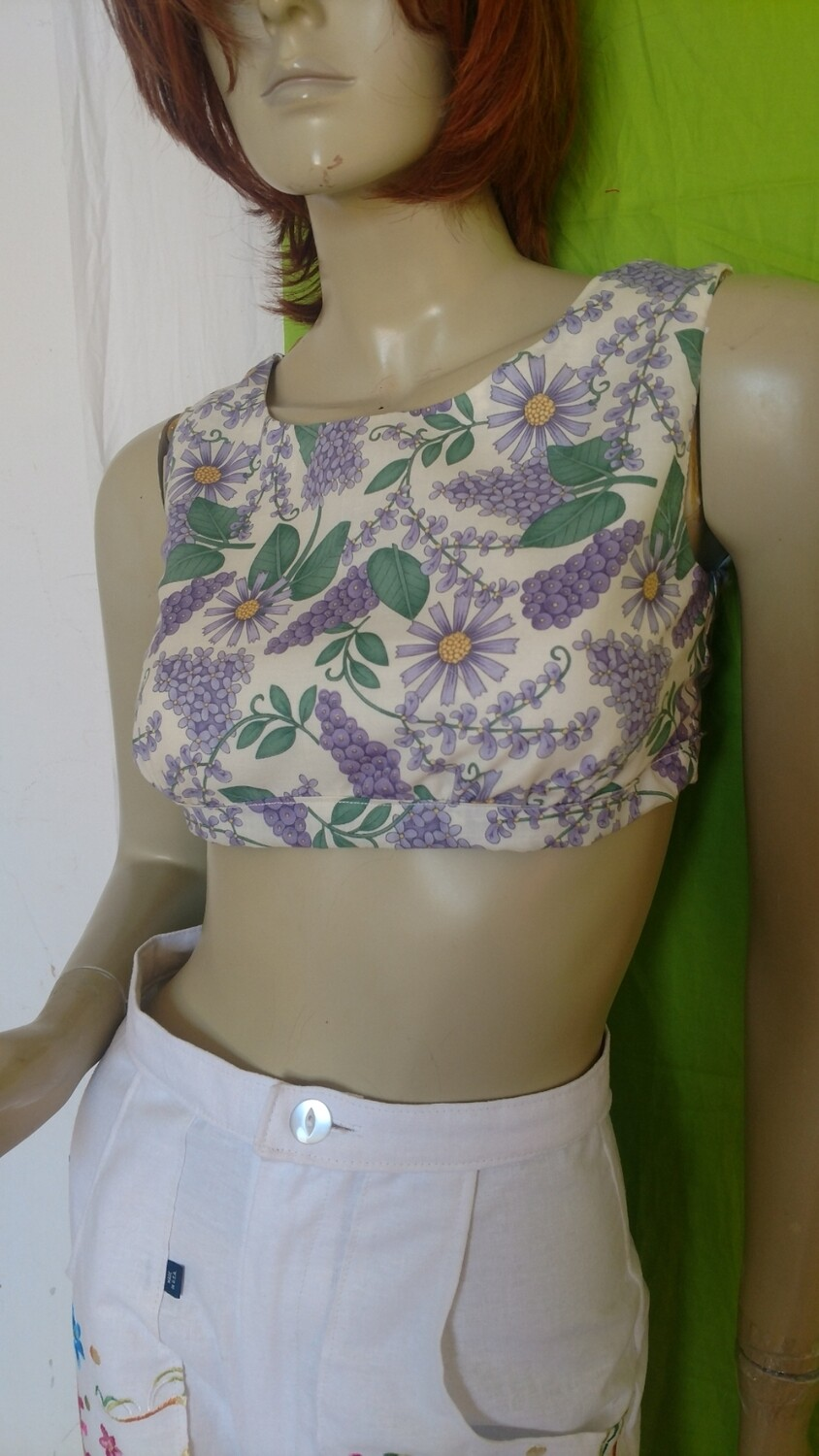 Grapevine Crop Top Hermans l8ned S