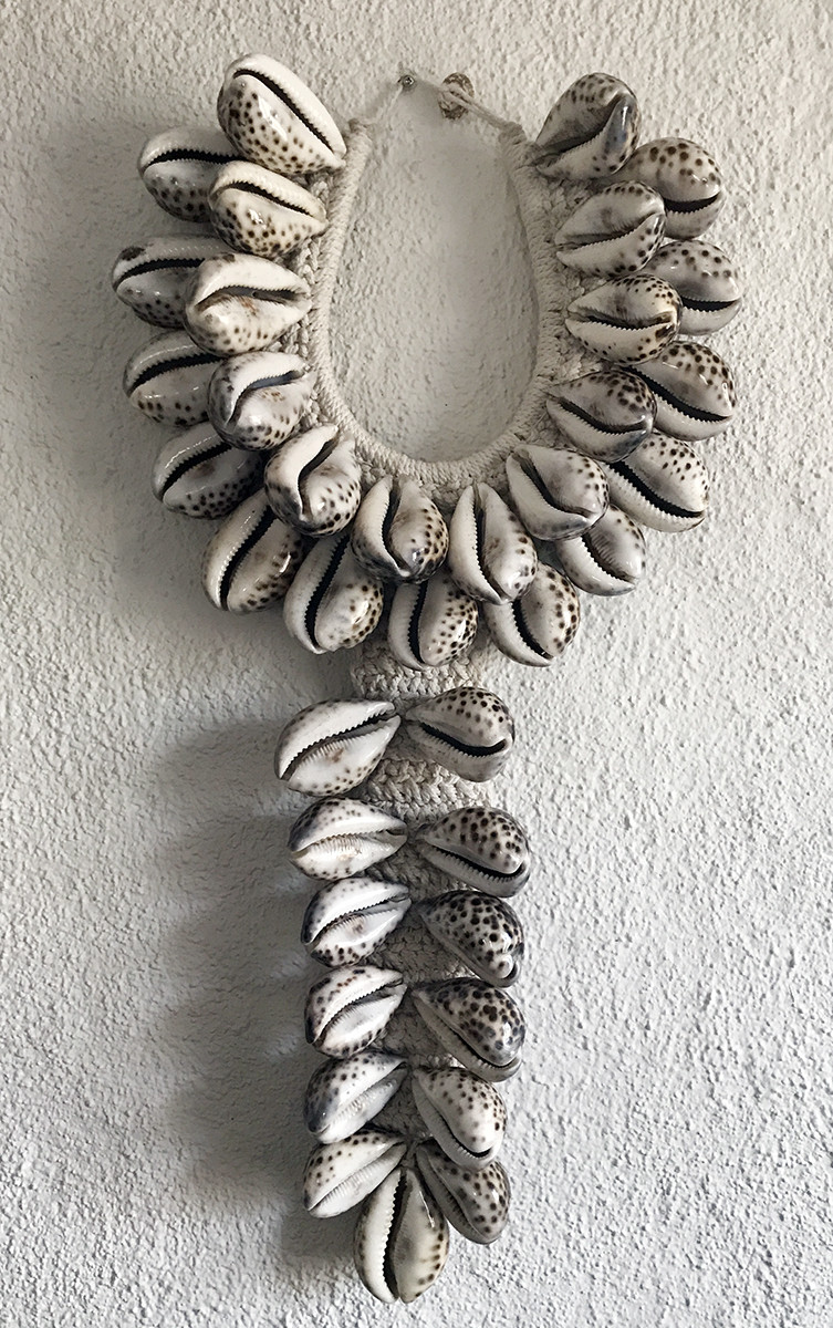 Spotted Cowrie Shell Necklace Decor