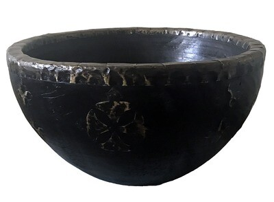 Bowl with Brass Decorations - Large