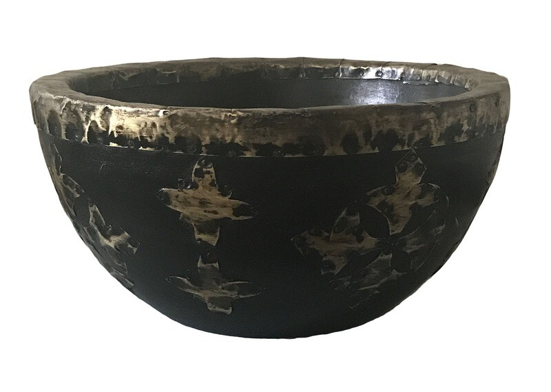Bowl with Brass Decorations - Small