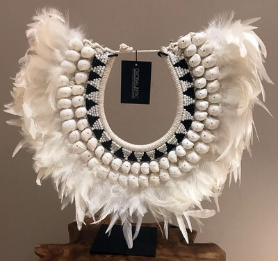 Black and White Beaded Necklace - Pre-Order