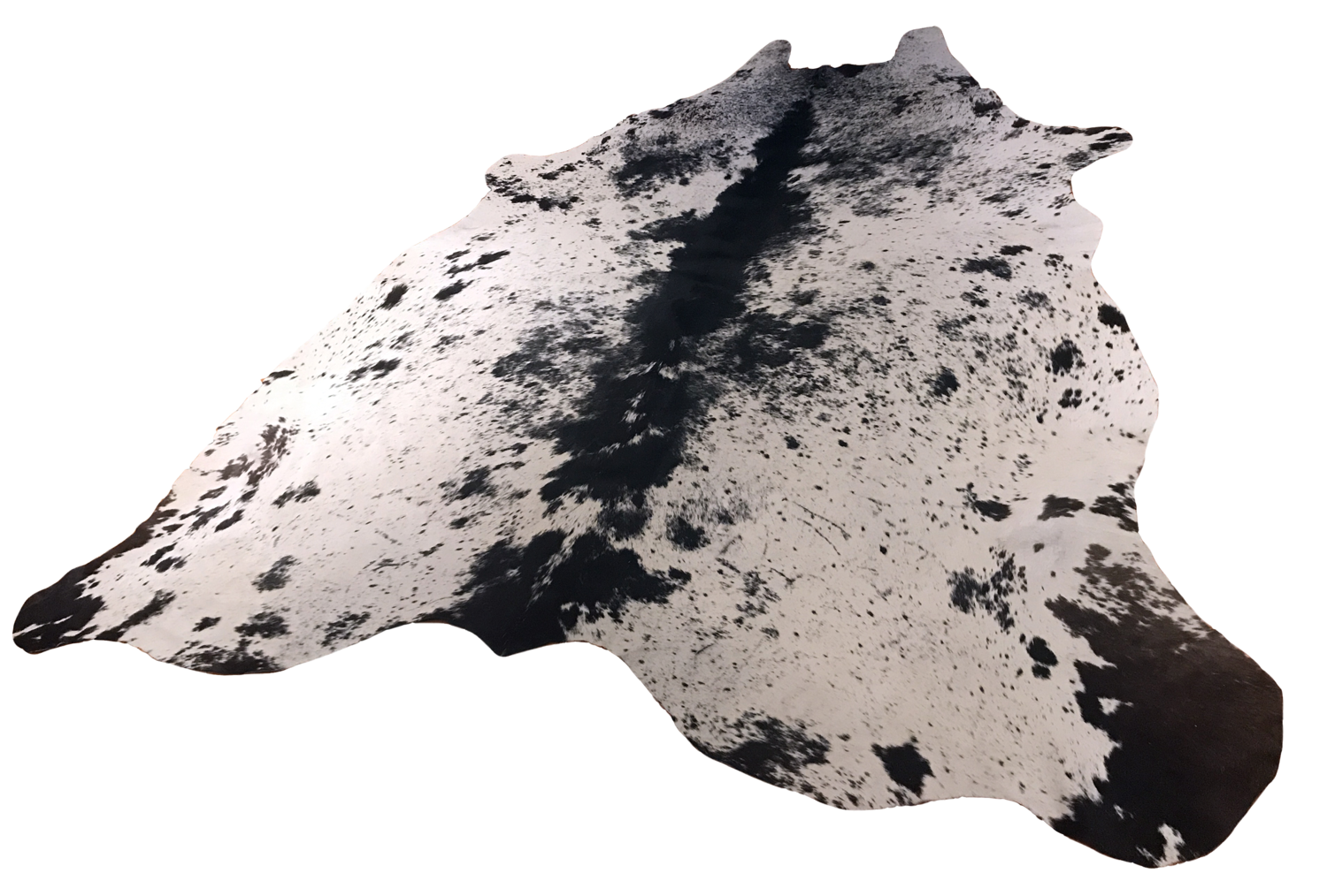 Black and White Speckled Hide Rug from Brazil