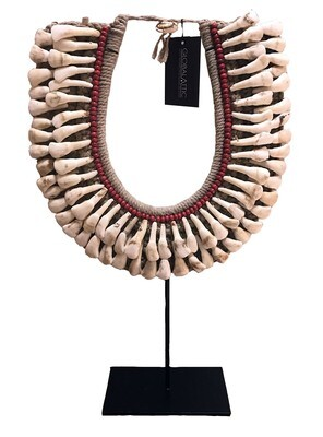 Cow Teeth Necklace - Red