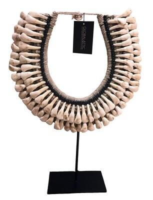 Cow Teeth Necklace - Black