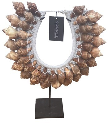 Brown Shell Necklace Decor