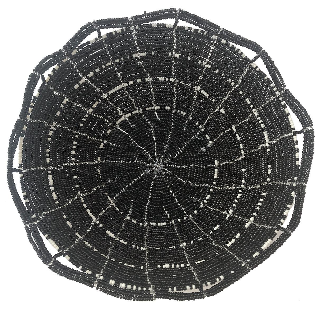 Beaded Bowl - Black and White