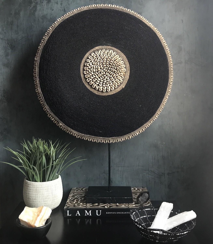 Black Beaded Shield