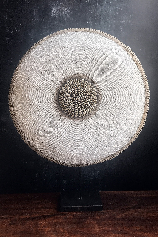 White Beaded Shield