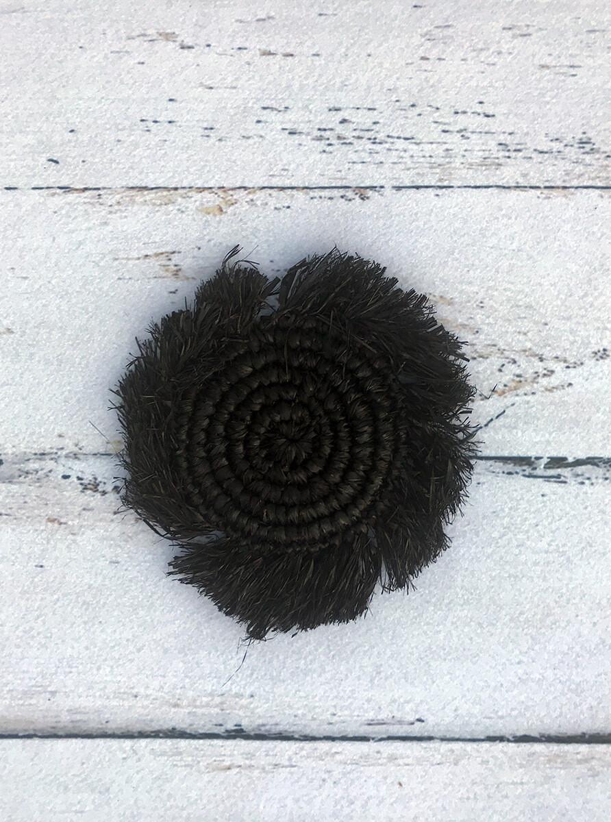 Black Fringed Sea Grass Coasters