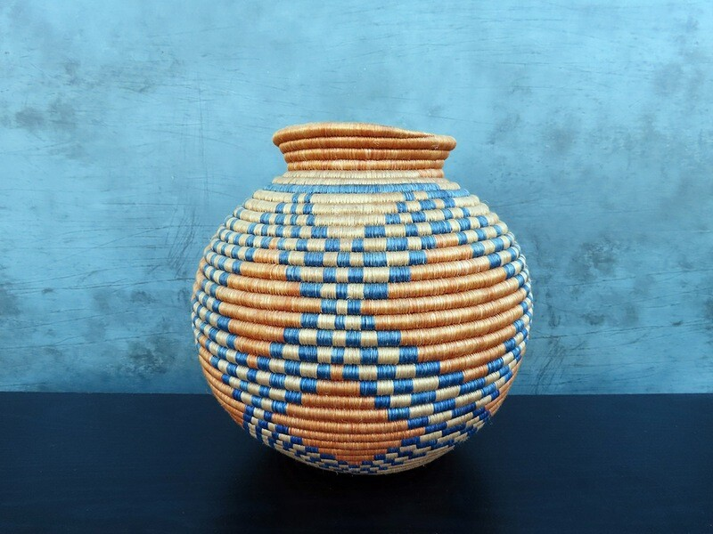 Woven Basket Container from Uganda