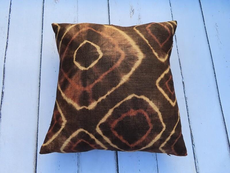 Tie Dye Kuba Cloth Pillow