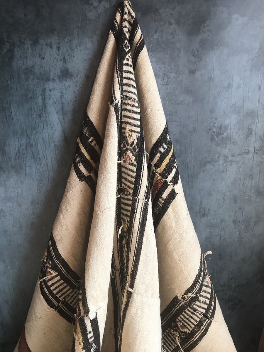 Vintage Nigerian Wool Blanket