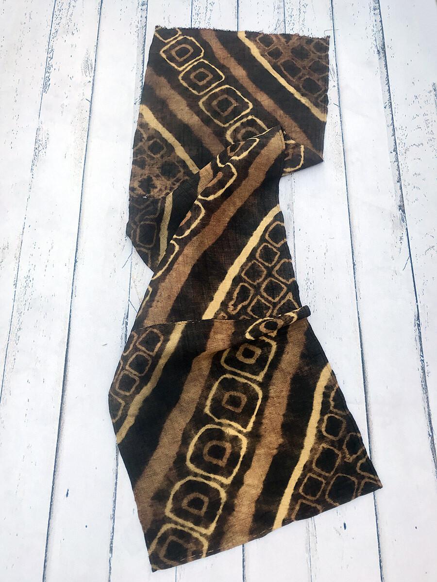 Vintage Tie-Dyed Raffia Kuba Cloth