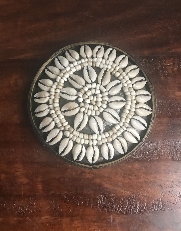 Cowrie Shell & Beaded Jewelry Box
