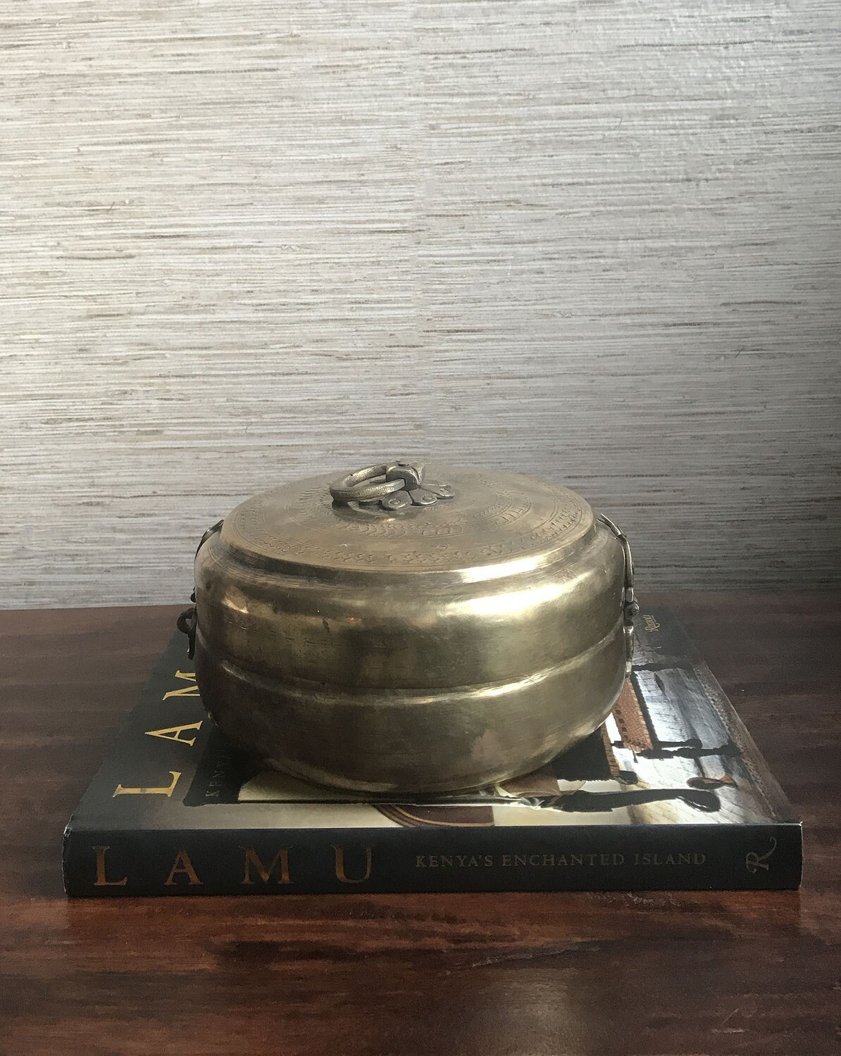 Vintage Brass Indian Container