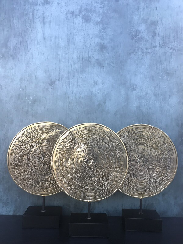 Brass Disc on Stand