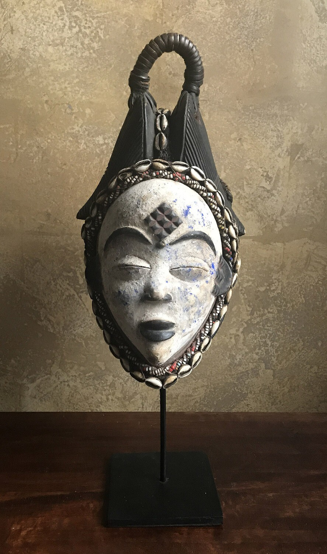 African Okuyi Helmet Mask from Gabon