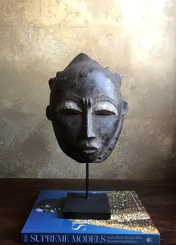 Baule Portrait Hemet Mask from Cote d'Ivoire Africa