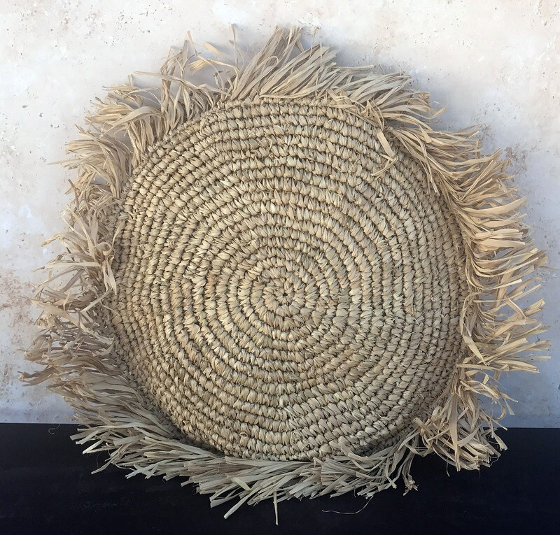 Sea Grass Pillow Cover - Natural Round