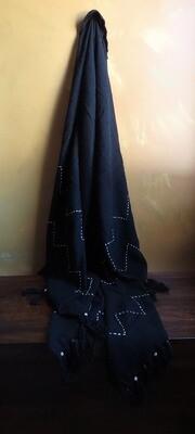 Beaded Throw Blanket - Black