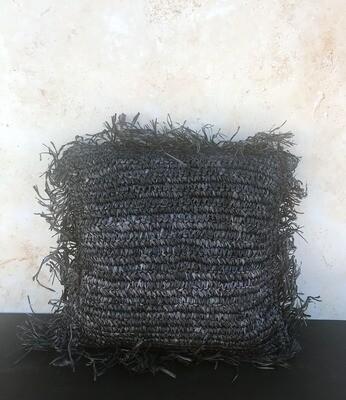 Sea Grass Pillow Cover - Black Square
