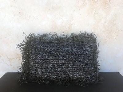 Sea Grass Pillow Cover - Black Rectangle