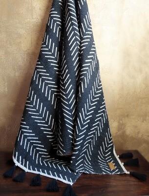 Beaded Throw Blanket - African Tribal Print 1