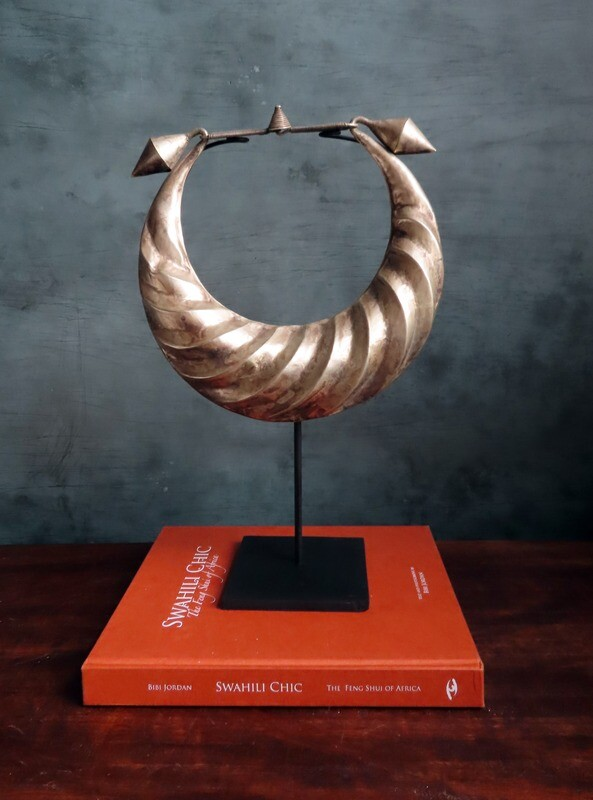 Miao Silver Ceremonial Necklace on Stand 1
