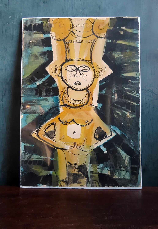 """Cuban Painting - """"Figura Quimbaya"""""""