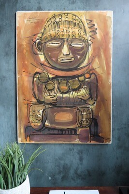 "Cuban Painting - ""Bachue"""