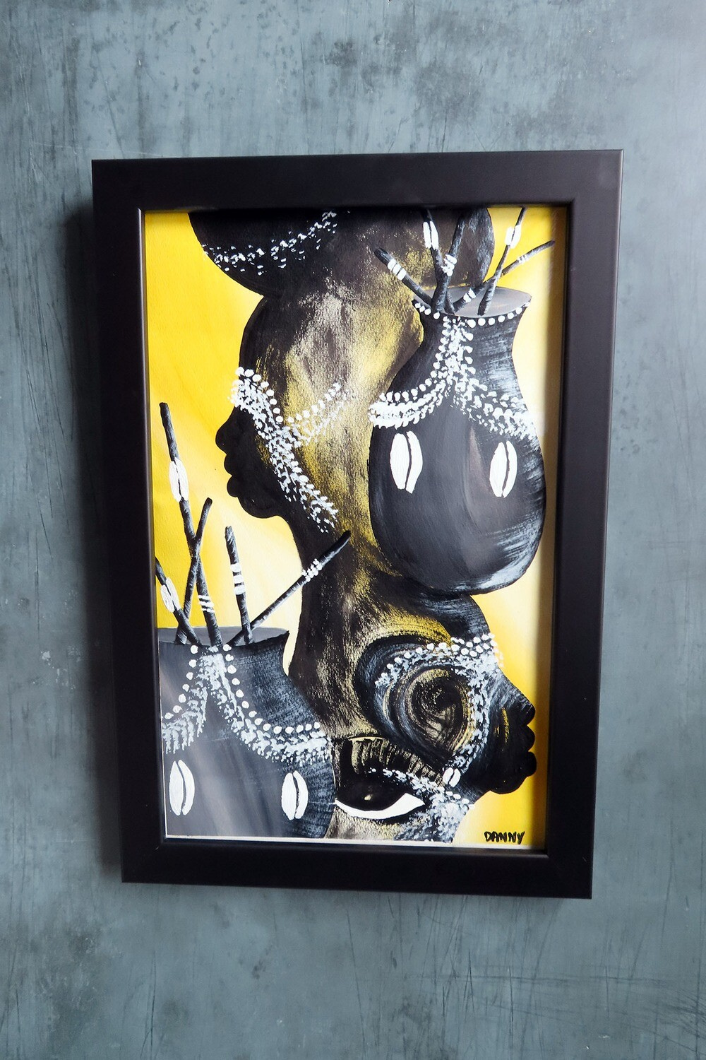 """Framed Painting from Cuba by """"Danny"""""""