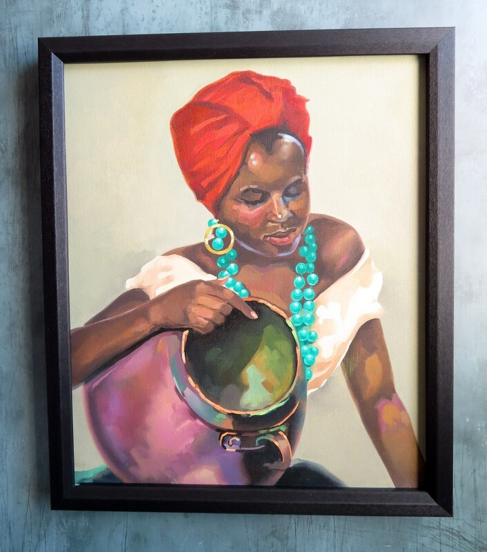 Cuban Woman Painting