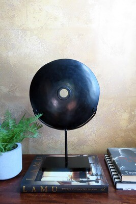 Polished River Stone Disk on Stand - 1