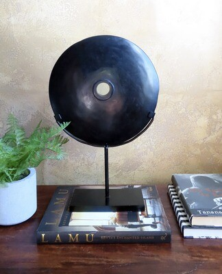 Polished River Stone Disk on Stand - 2