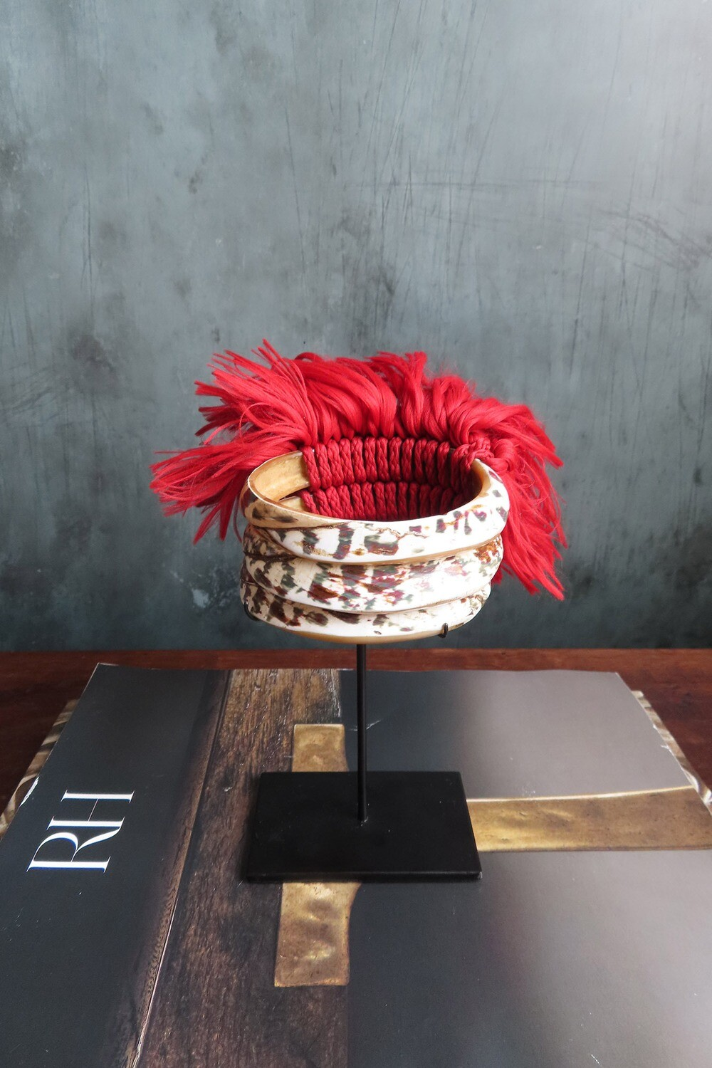 Tribal Armlet with Red Fringe - Small