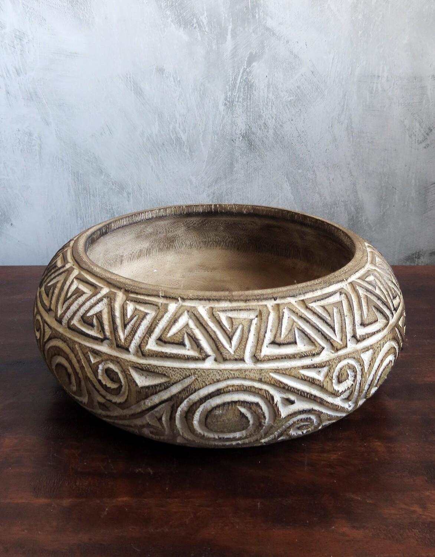 Tribal Wood Bowl