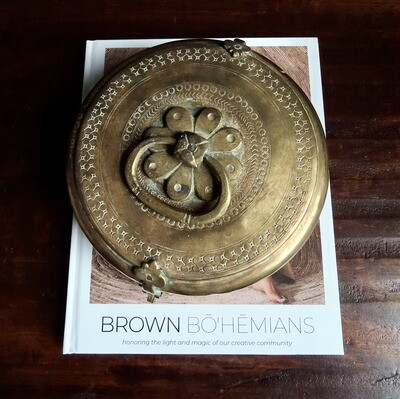 Vintage Brass Indian Container 2