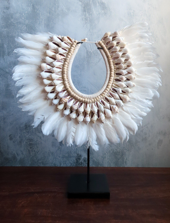 White Beaded Necklace Decor