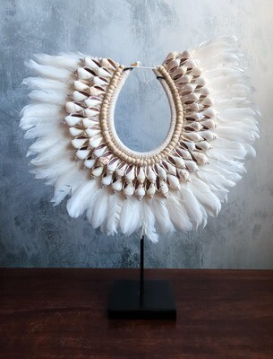 White Beaded Necklace Decor